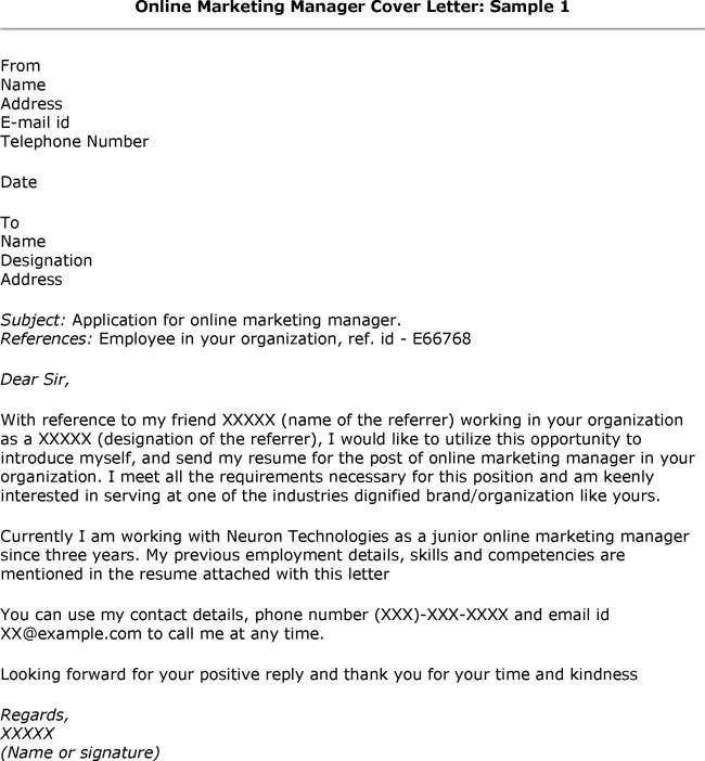 online cover letter examples online cover letter examples the - Writing An Online Cover Letter