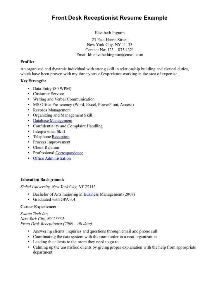 Receptionist Resume Sample Unforgettable Receptionist Resume - hair stylist resume example