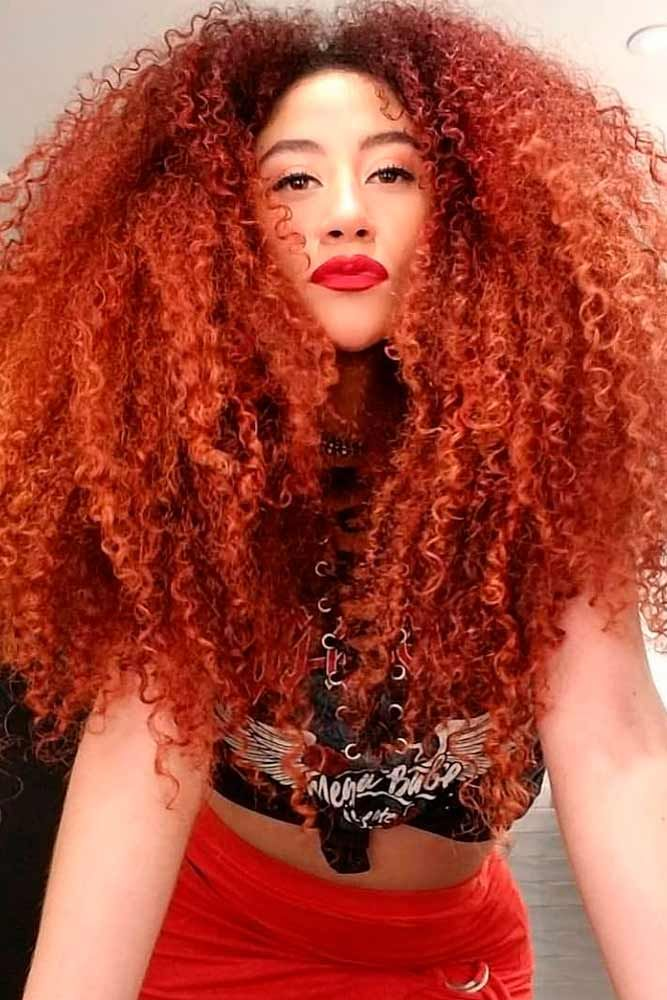 Multi Textured Perm #redhair #curlyhairstyles ★ The best types and styles of modern perm for your flawless look. #glaminati #lifestyle #perm