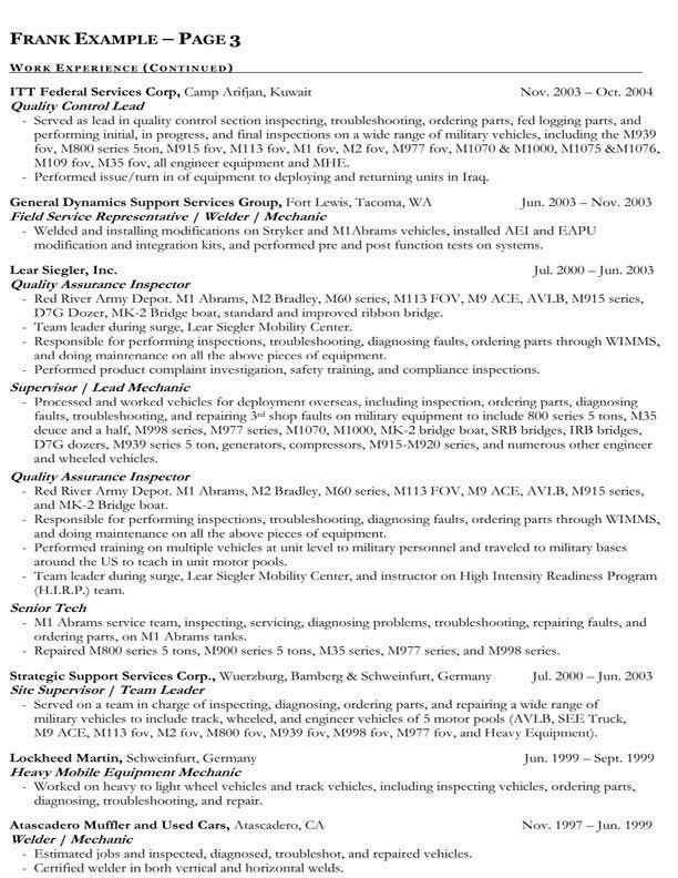 Federal Resume Samples Federal Resume Sample And Format The - federal job resume samples