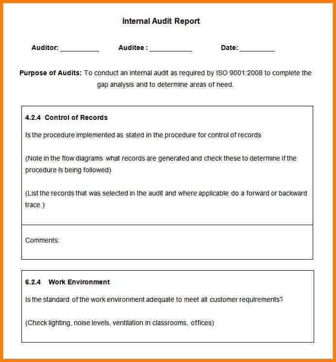 Sample Audit Report Template 14 Internal Audit Report Templates - audit report sample