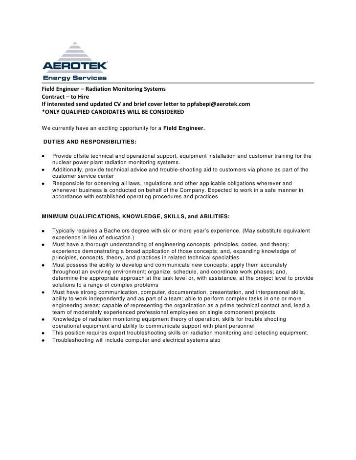 Halliburton Field Engineer Cover Letter - sarahepps -