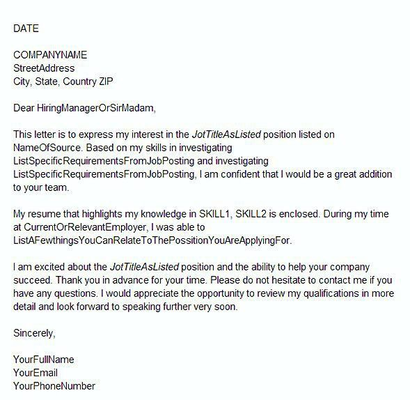 A Great Cover Letter How To Write The Perfect Cover Letter For A - great cover letter secrets