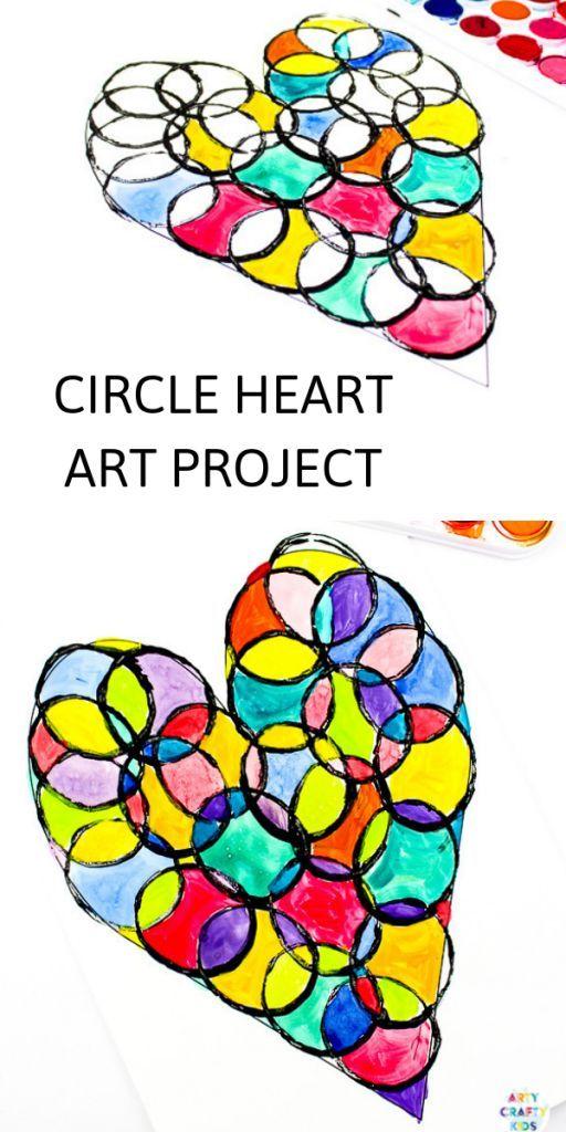 Circle Heart Art Project