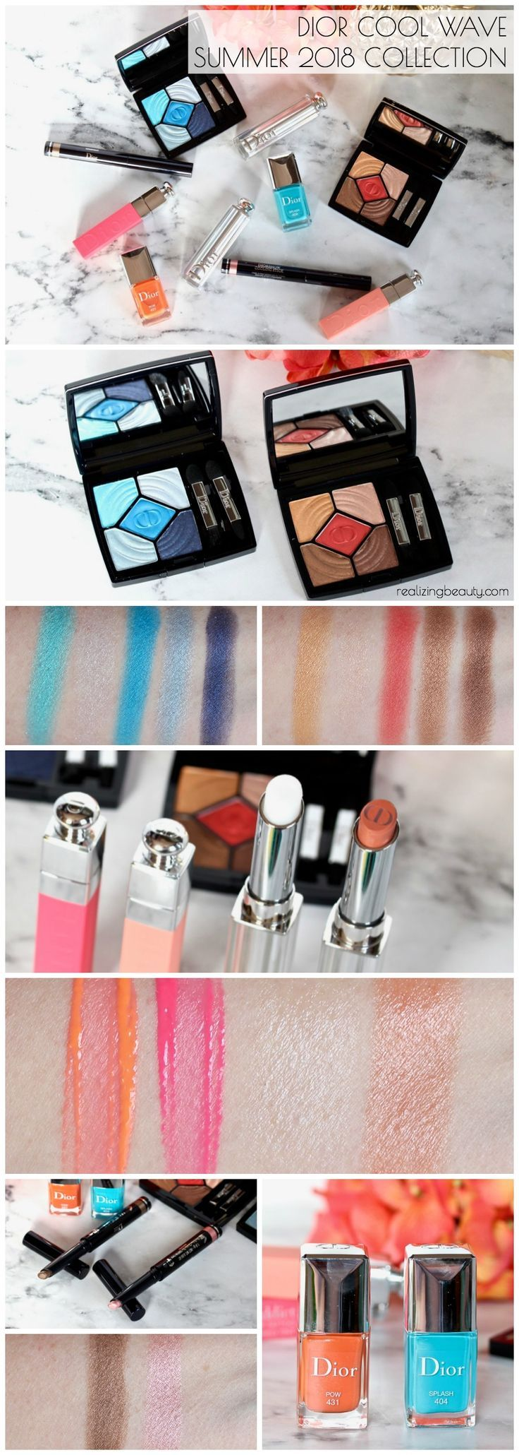 Dior Cool Wave Summer 2018 Collection Review and Swatches • Realizing Beauty