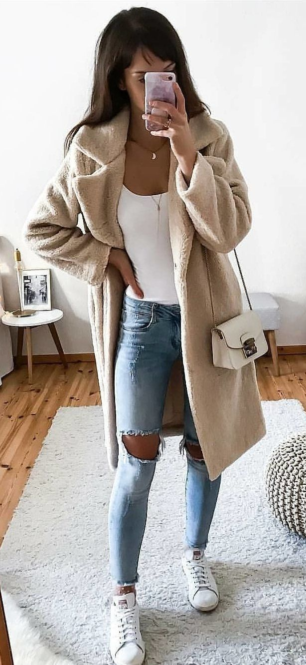 brown trench coat #spring #outfits