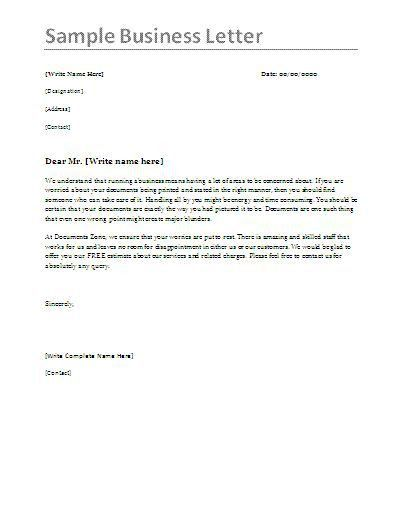 Example Of Business Letter 6 Samples Of Business Letter Format To - formal business letter formats