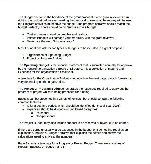 Proposal Template Free Sample Proposal Template, Business - funding proposal template