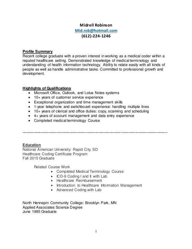 certified medical coder resume medical billing and coding resume
