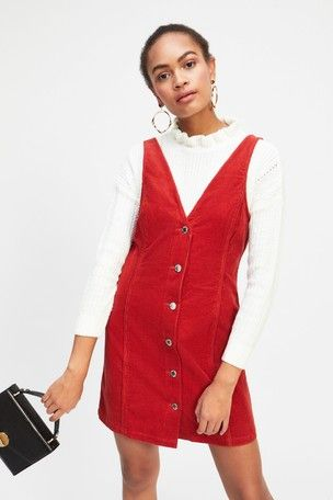 Miss Selfridge Pinny Denim Dungaree Dress