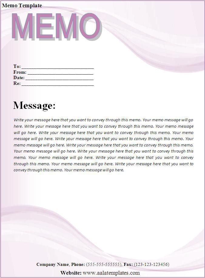Professional Memo Format Template professional memo template sample