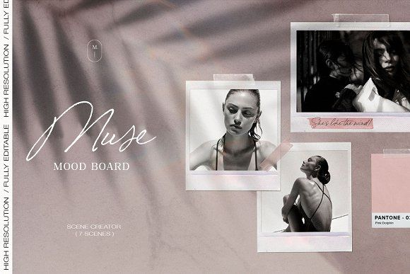 Mood Board Mockup by The Muza on @creativemarket