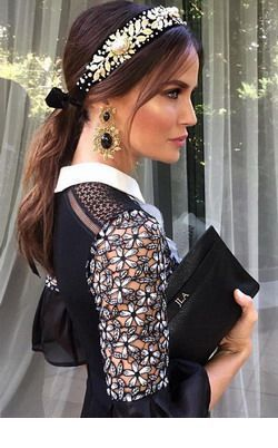 Glam headband and earrings