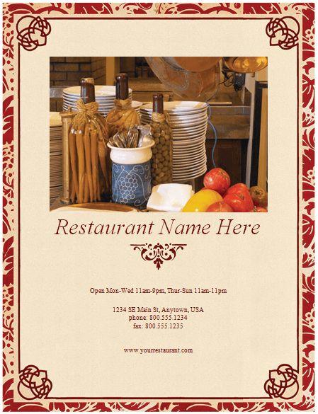 Restaurant Menu Template   8 Free Restaurant Menus  Free Cafe Menu Templates For Word