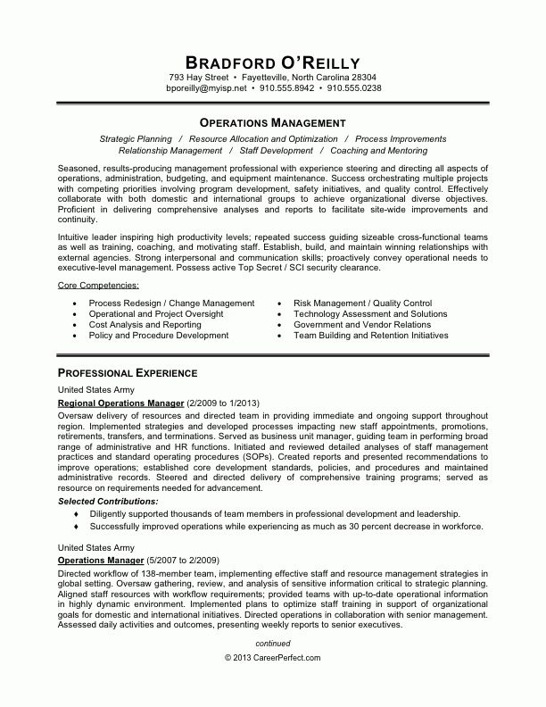 Examples Of Military Resumes Military Resume Example Sample