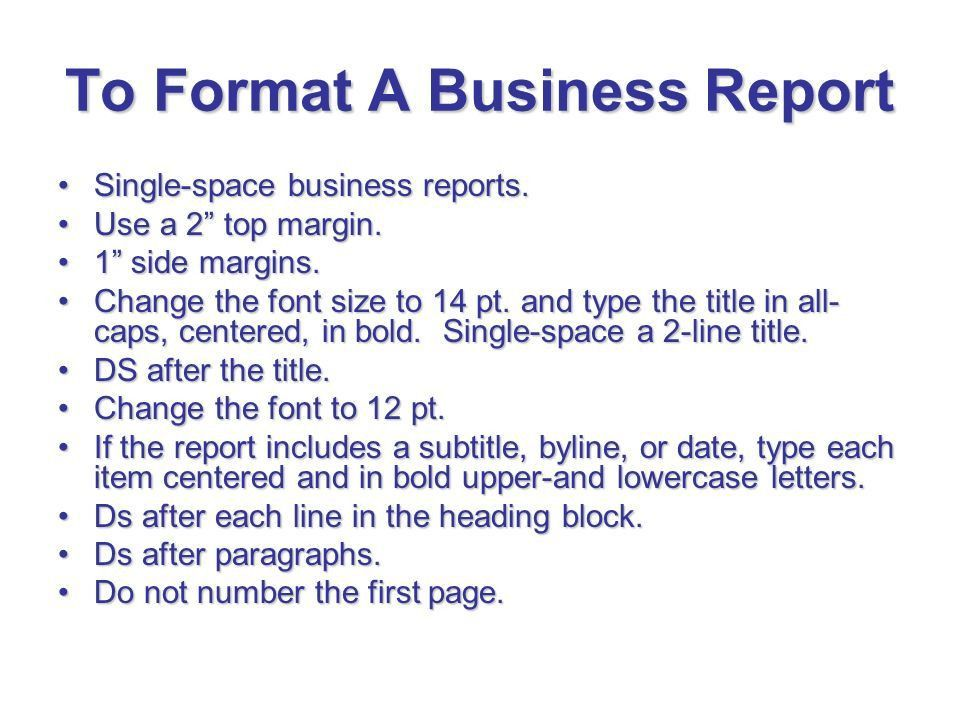 Format For A Business Report 17 Business Report Templates Free - format for a business report