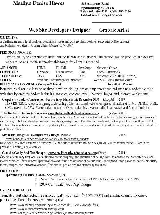 Entry Level Graphic Designer Resume Professional