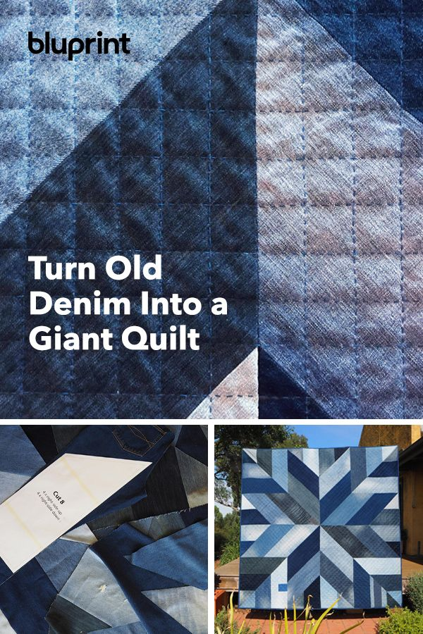 How to Upcycle Old Denim Into a Giant Quilt