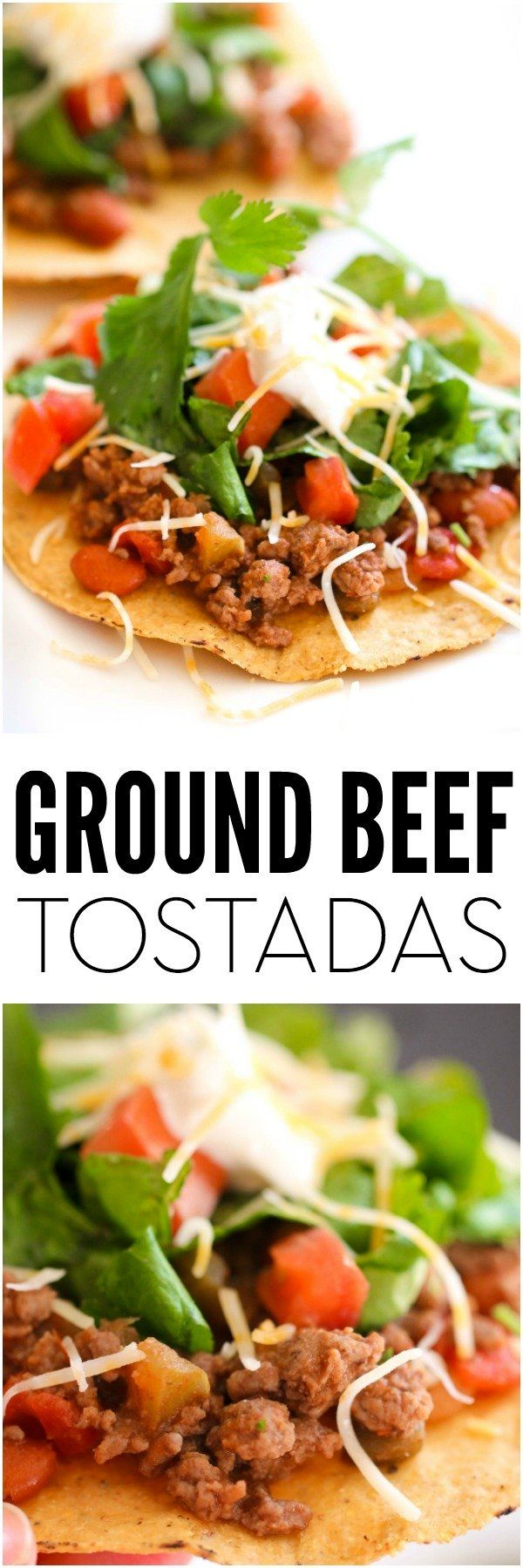 Ground Beef Tostadas   Six Sisters' Stuff