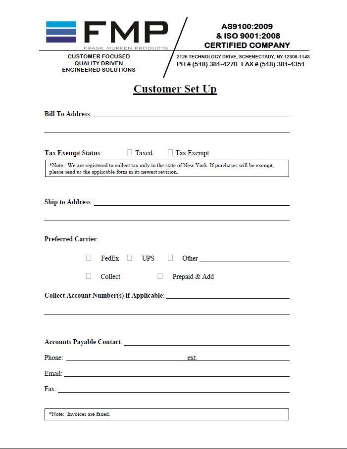 customer setup form template | radiofixer.tk