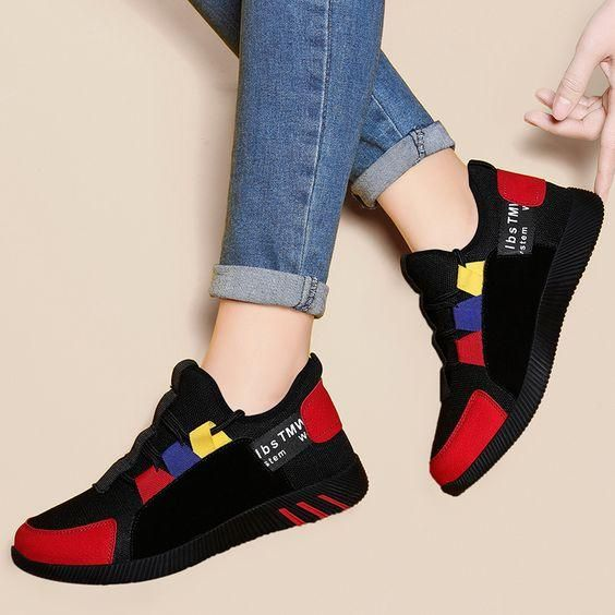 Girls Color Design Sneaker Shoes – Abershoes