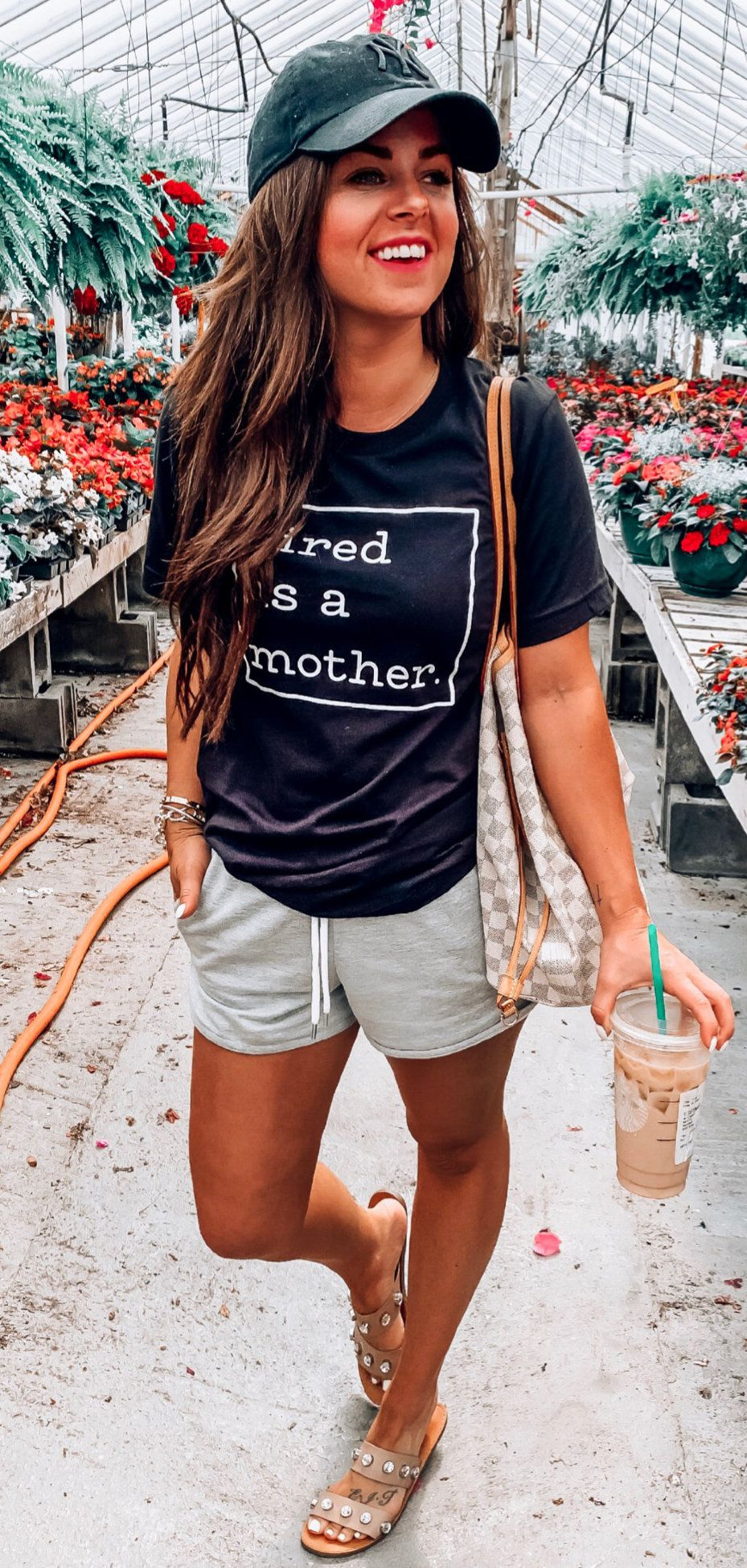 black crew-neck t-shirt #summer #outfits
