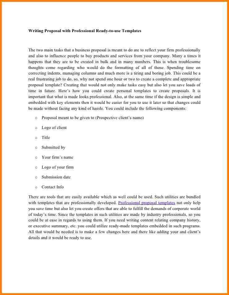Professional Proposal Templates Sample Professional Proposal - professional proposal template