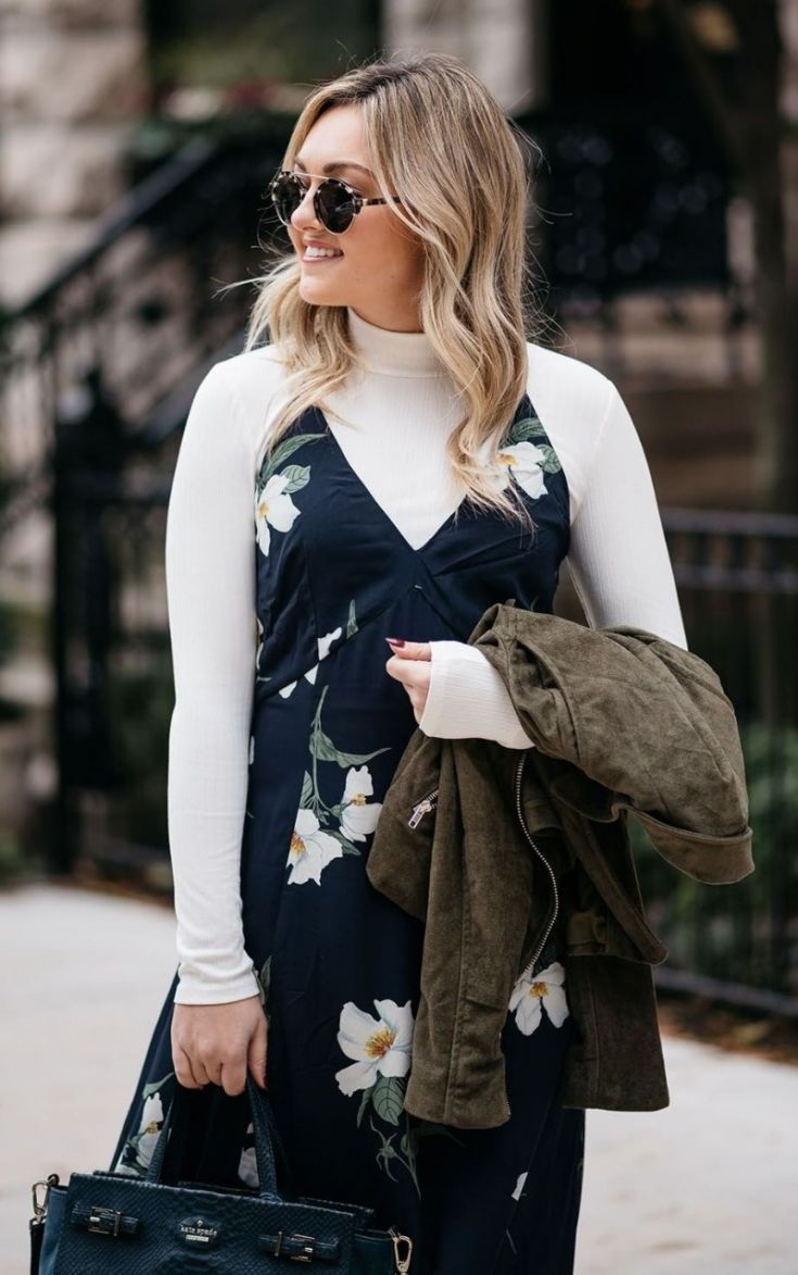 floral maxi in the fall