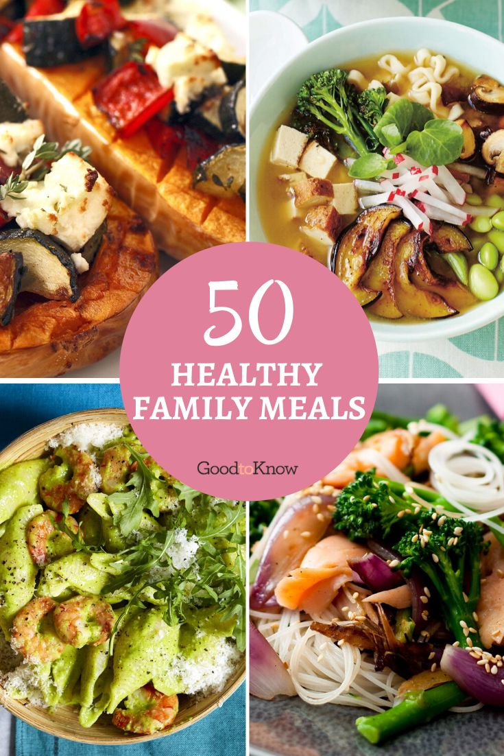 Healthy family meals are so much easier to plan if you've got a bit of inspiration every week, which is why we've rounded up over 50 healthy dinner recipes that the whole family can enjoy. Plus, pick up new ways to whip up healthy versions of your favourite dinners. Our round up includes healthy dinner ideas for kids too, so you've got plenty to choose from. Each recipe is easy and budget-friendly, too. #easyfamilymeals #healthyfamilymeals #budgetmeals #dinneronabudget #budgetmealplanning #food