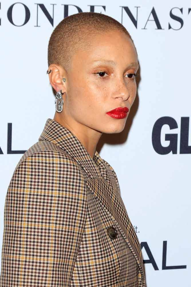 Shaved Buzz Cut #shavedhead #adwoaaboah ★  A women buzz cut is a great way to not only upgrade your hair style to keep up with fashion but also claim your female power. So, if you're looking for some ideas, pick out from our versatile collection of the best girl buzz cuts rocked by celebrities, from a pixie hawk to a buzzed fade. #glaminati #lifestyle #buzzcut