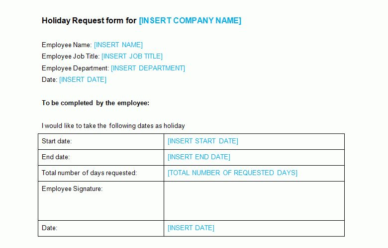 Staff Leave Form Template Employee Form Employee Vacation Request - leave application form for employee