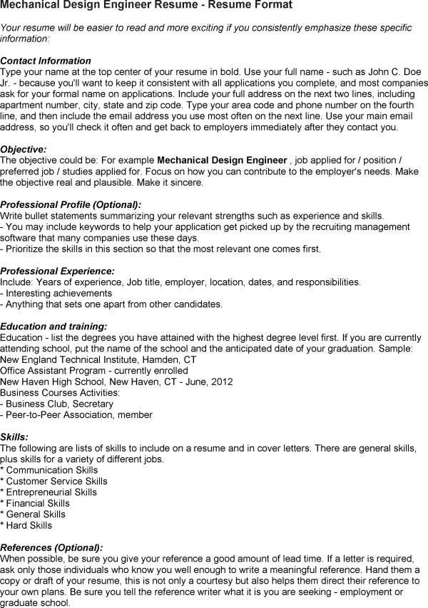 Cover Letter For Mechanical Design Engineer Mechanical Design