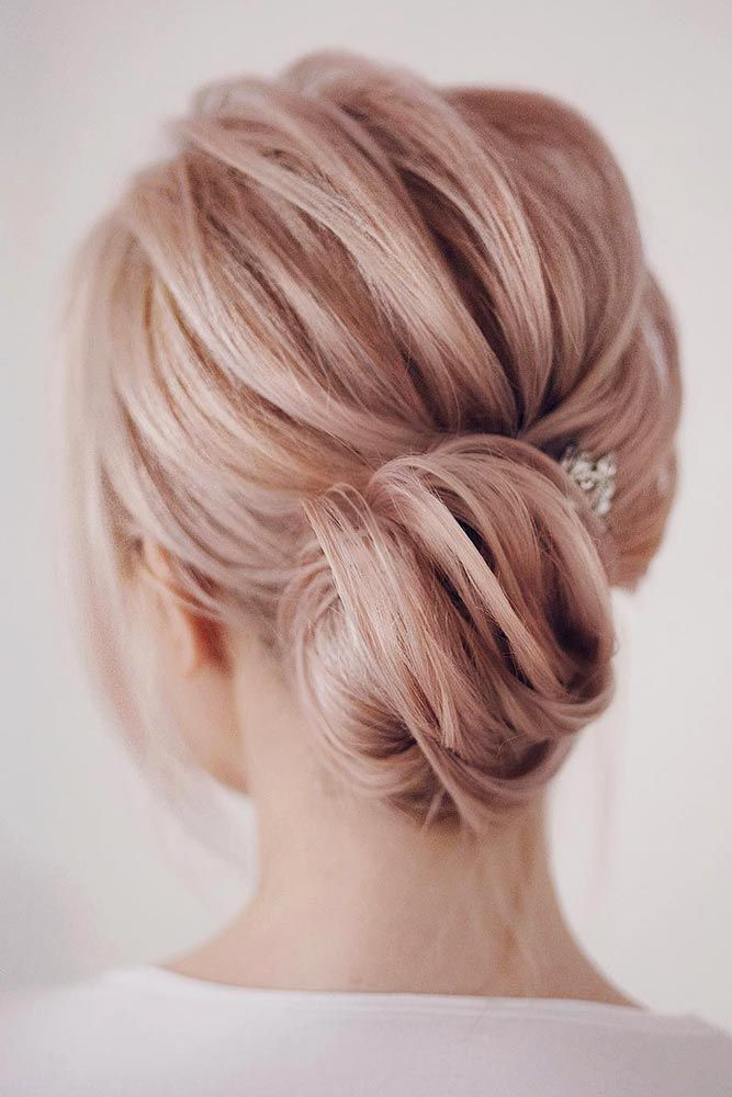 Low Bun For Blonde Hair #blondehair #bunhairstyles ★ Cute and easy shoulder length hairstyles for thin and for thick hair can be found here. These styles can work for adult women and for teens. #glaminati #lifestyle #shoulderlengthhairstyles
