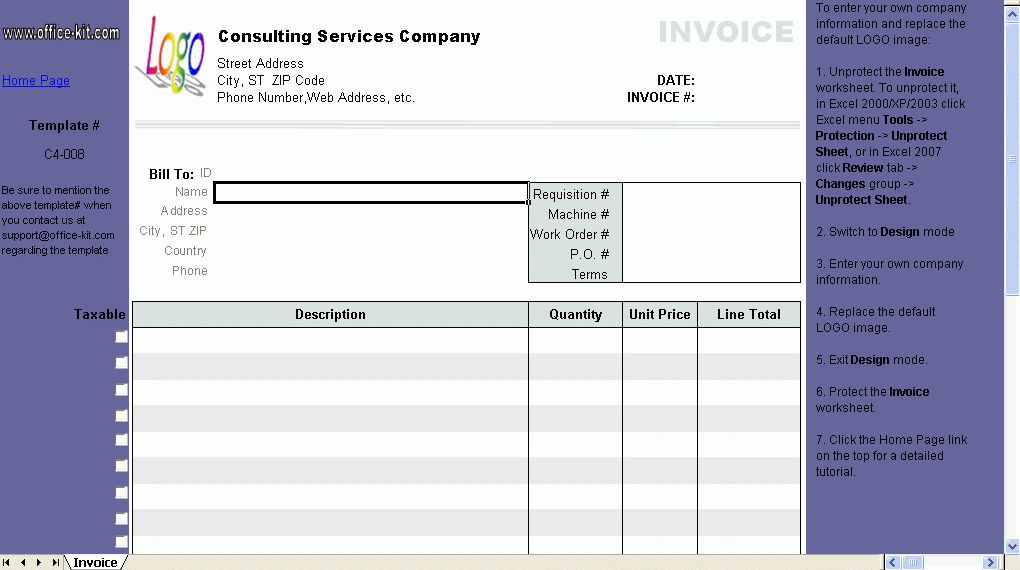 Excel Phone Service Service Invoice Template Excel Invoice - excel phone list template