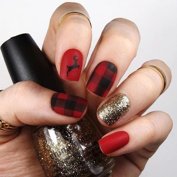 Joyful Christmas Nails Ideas