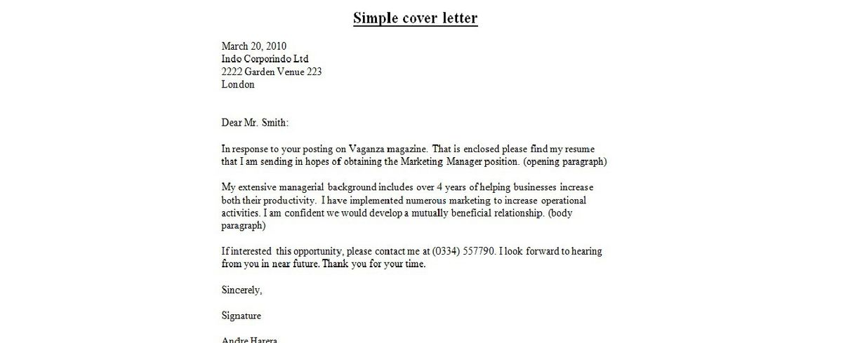 Basic Cover Letter Templates Cover Letter Examples Template - microsoft office resignation letter template