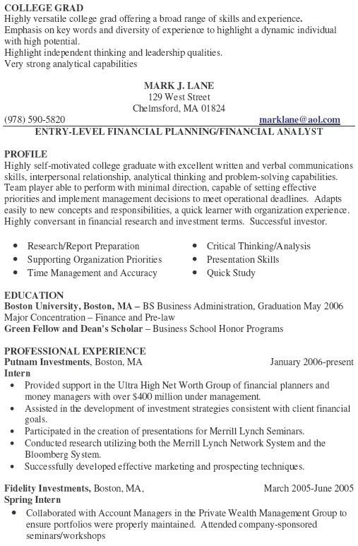 personal financial advisor sample resume cvresumeunicloudpl - Investment Advisor Sample Resume