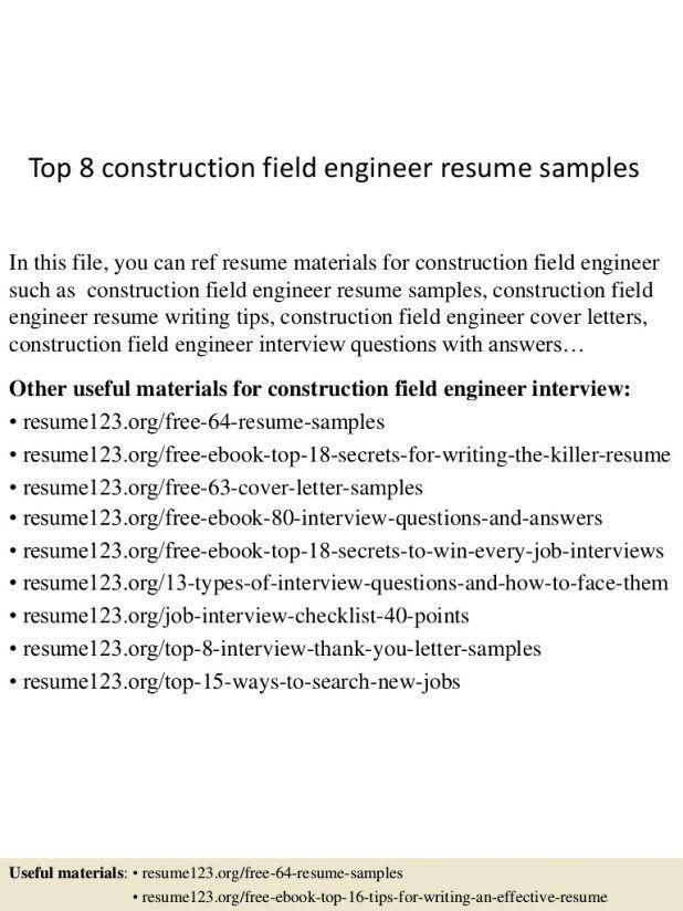Schluberger Field Engineer Sample Resume] Field Engineer ...
