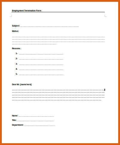 Employee Exit Form Template Exit Interview Form 9 Free Pdf Word - employee termination form