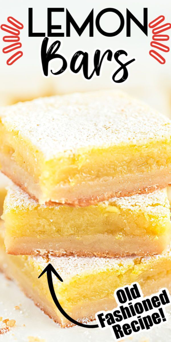 Homemade Lemon Bars - Sweet & Tangy on a Buttery Crust!