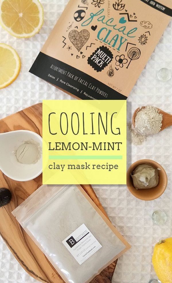 Brighten, cleanse, oil absorbing lemon clay face mask that just smells like a crispy spring day. Love this cooling face mask mixed with lemon juice, bentonite clay and peppermint essential oil. Best DIY clay mask recipe #diyrecipe #diyskincare #facemask #diyfacemask #lemonfacemask #lemonforskin #peppermint #bentoniteclayrecipe #bentonitemask