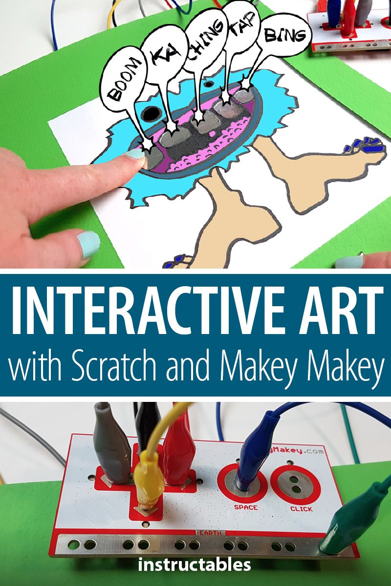 With Makey Makey you can make an interactive musical art piece with your students. #Instructables #education #school #kids #electronics #technology