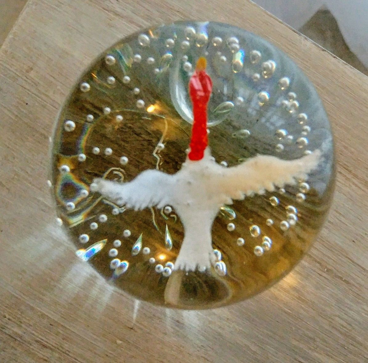 Gentile glass paperweight flying goose pic 2 of 2