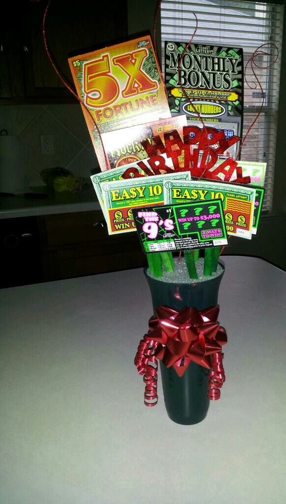 Lottery Ticket Gift Basket For Grandpa S 90th Birthday