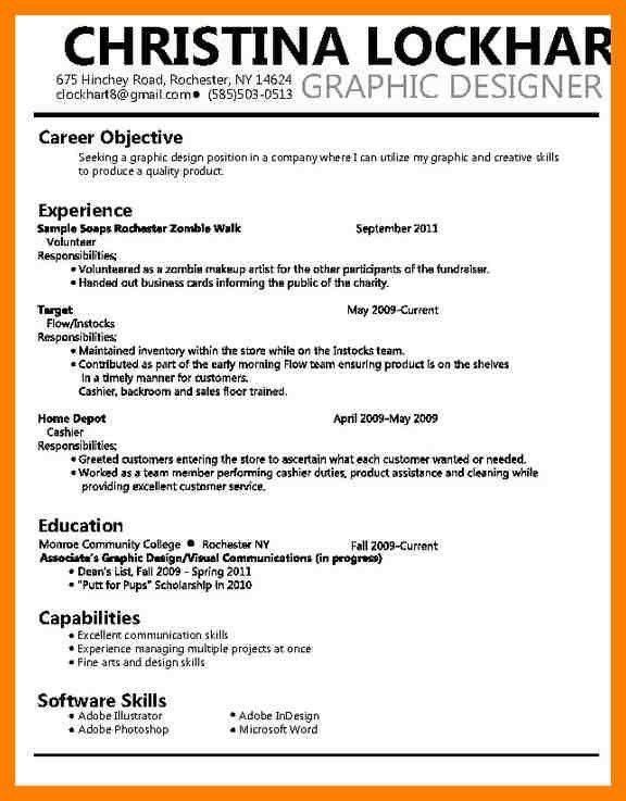 Graphic Design Resume Objective Graphic Design Objective Resume - graphic designers resume