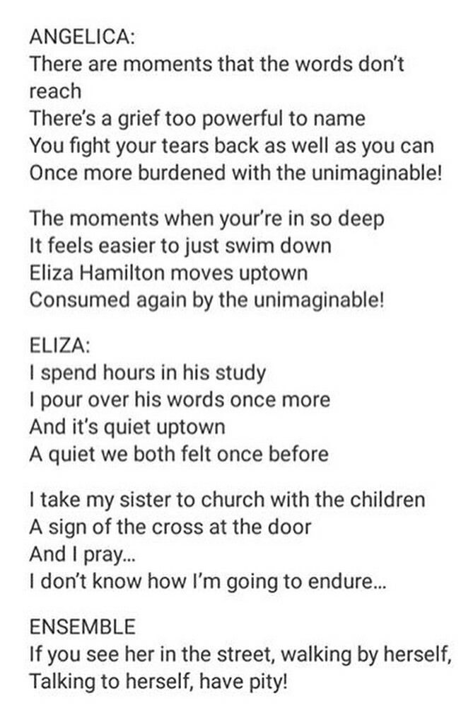 ItS Quiet Uptown FanMade Reprise Alex Dies Eliza Sings