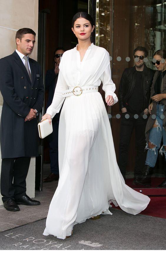 Classy white long dress