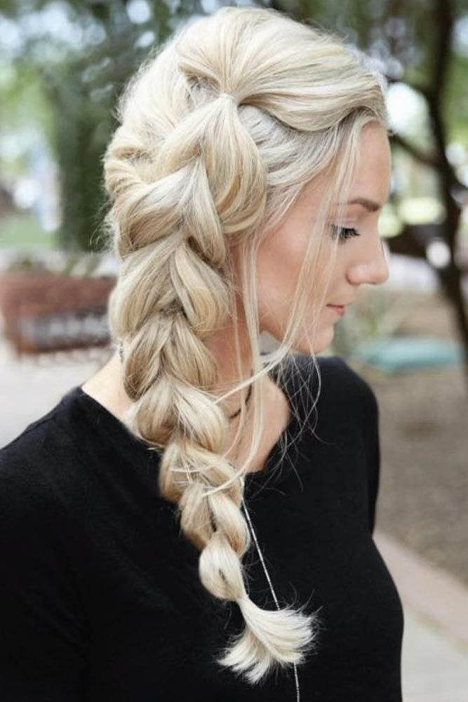 Side Braid For Long Hair #braidedhairstyles #longhair ★ Spring break is approaching, and easy hairstyles that look pretty will come in handy whether you have an active or a passive vacation. See our collection. #glaminati #lifestyle #easyhairstyles