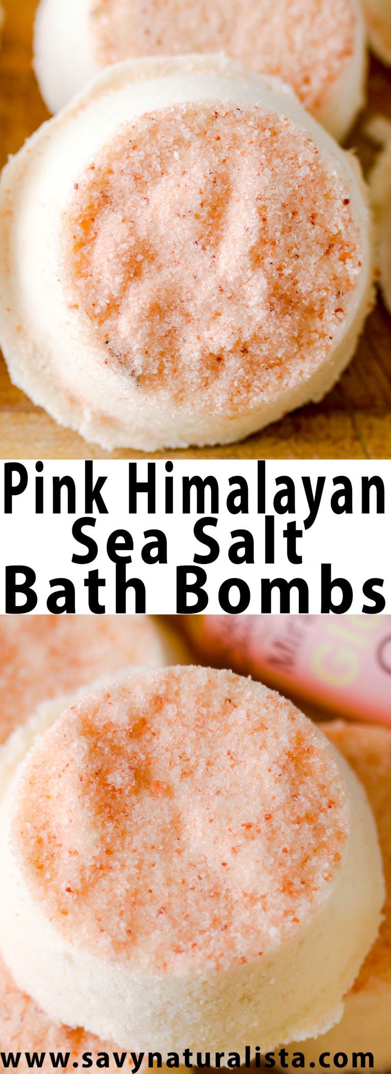 Made with all-natural Pink Himalayan Sea salt, these bath bombs are easy to make and only require a few ingredients for an all-natural full body detox.