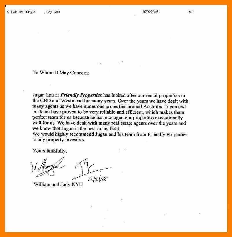 landlord recommendation letter - Format - landlord reference letter